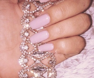 nails, makeup, and luxury image