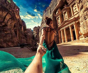 travel, dress, and jordan image