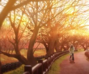 anime, 月がきれい, and kiss image