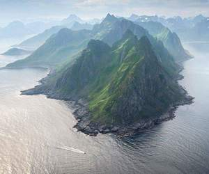 norway, landscape, and mountains image