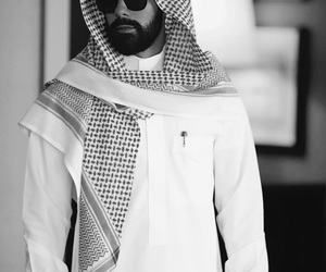 beauty, black and white, and arab image