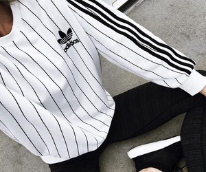 black and white, tumblr, and adidas image