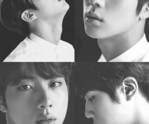black and white, bnw, and jin image