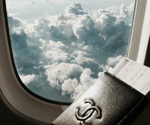 sky, chanel, and travel image
