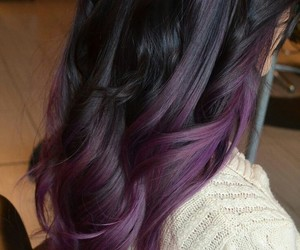 purple and hair image