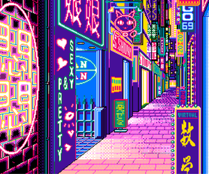 aesthetic, pixel, and bright image