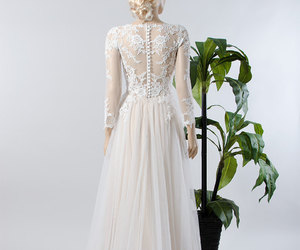 bohemian, bridal gowns, and lace wedding gown image