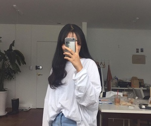 cool, white shirt, and jean image