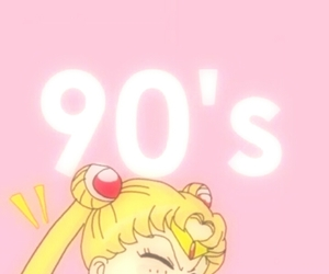 sailor moon, wallpaper, and 90s image