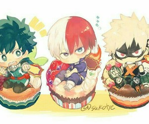 boku no hero academia, todoroki shouto, and bakugou katsuki image