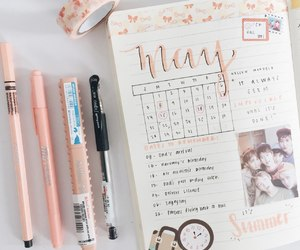 beautiful, diary, and calendar image