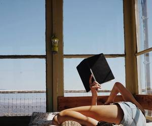 book, sky, and summer image