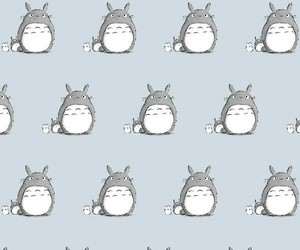 anime, pattern, and totoro image