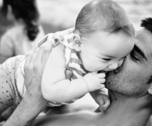 amor, baby, and black and white image