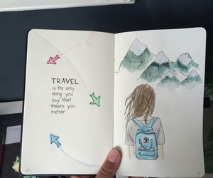 travel, art, and drawing image