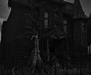 black and white, dark, and gothic image