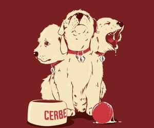 dog, cerberus, and percy jackson image