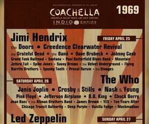 coachella, Jimi Hendrix, and led zeppelin image