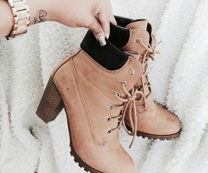 shoes, heels, and timberland image