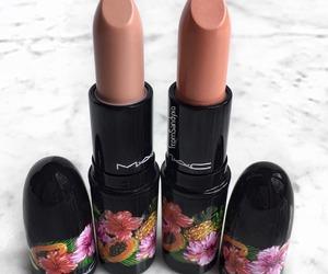 mac, lipstick, and cosmetics image