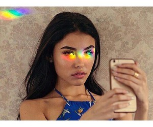 madison beer, rainbow, and beauty image