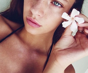 flowers, beauty, and girl image