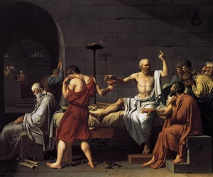 art, painting, and socrates image