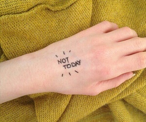 yellow, aesthetic, and not today image