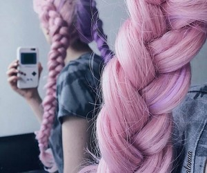 braids, dyed, and inspiration image