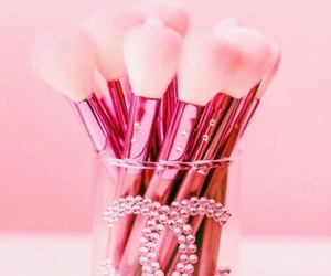 brush, chanel, and pink image