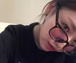asian, glasses, and ulzzang image
