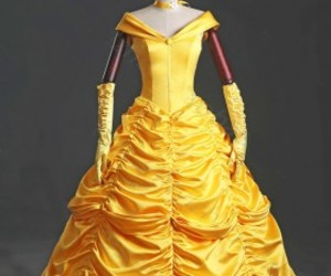 cosplay dresses, adult belle dress, and princess belle dress image