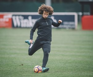 Chelsea, curly hair, and football image