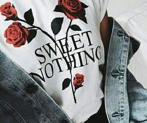 outfit, roses, and sweet nothing image