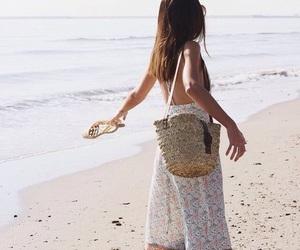 beach, blue, and fashion image