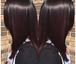 cherry, straight hair, and dye hair image