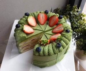 strawberry, greentea, and feelsogood image
