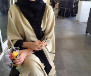hijab and abaya image