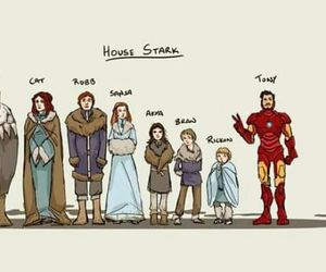 stark, game of thrones, and funny image