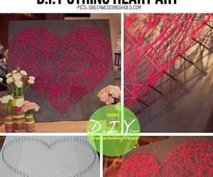 diy, heart, and art image
