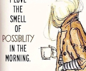morning, quotes, and coffee image
