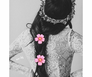 hair, crown, and black image