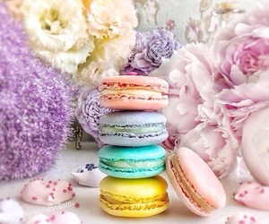 flowers, food, and pastel image