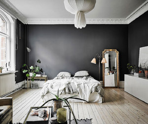 bedroom, studio apartment, and green image