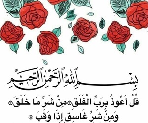 allah, arabic, and flowers image