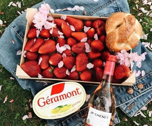 picnic, strawberry, and summer image