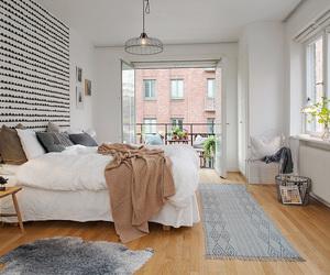 bedroom, home, and Scandinavian image