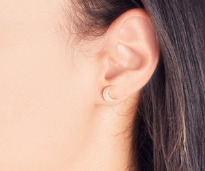 crescent, studs, and earring image