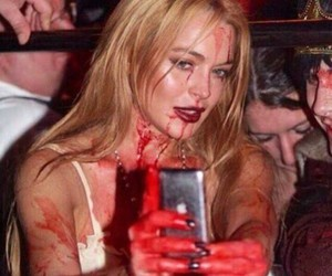 aesthetic, lindsay lohan, and blood image