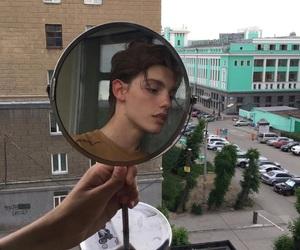 boy, mirror, and city image